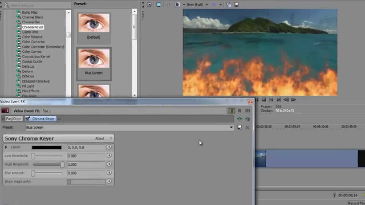 How To Remove Background And Replace The Animated One Using Sony Vegas Pro  Tutorial Hd