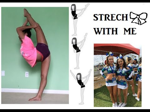 great stretches for flyers cheerleaders and to get flexible