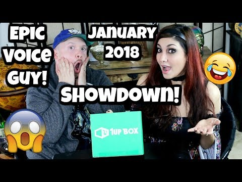 SHOWDOWN | January 2018 1UP Box Unboxing | ft. Jon Bailey Epic Voice Guy