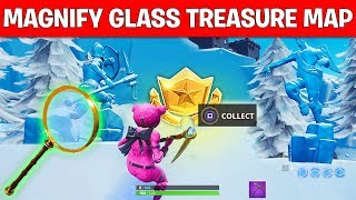 """SEARCH WHERE THE MAGNIFYING GLASS SITS ON THE TREASURE MAP LOADING SCREEN"" LOCATION FORTNITE WEEK 3"