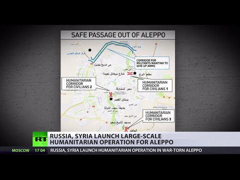 Russia & Syria launch large-scale humanitarian operation for Aleppo residents