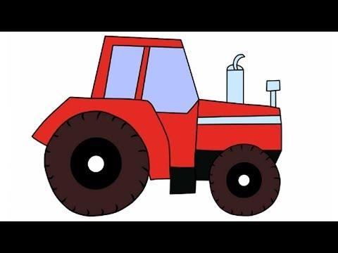 Алфавит для Детей - Буква К  и наш трактор Том мультфильм