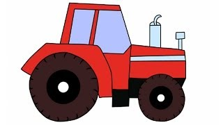 Алфавит для детей - Буква К  и наш ''трактор Том'' мультфильм
