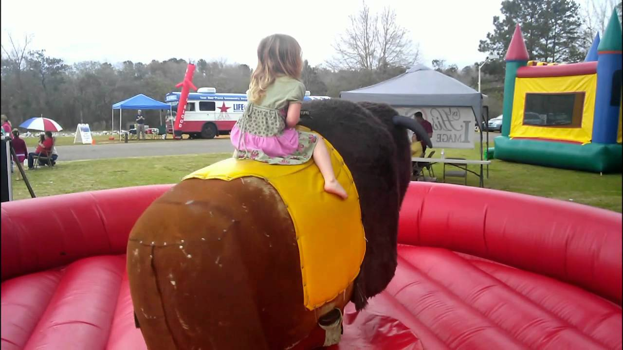 kids and the mechanical bull