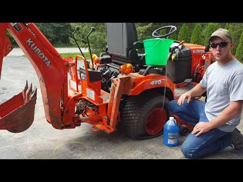 Filling Tractor Tires with fluid FAST with no special tools or pumps