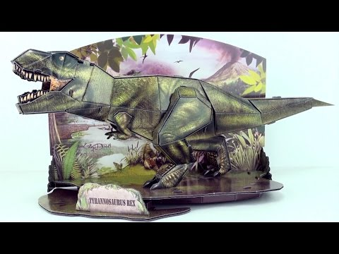 Tyrannosaurus DINO 3D Puzzle  - Dinosaur model of T-Rex 3D  - Build a Tyrannosaurus for kids