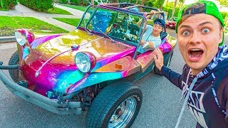 Carter Sharer Teaches Me How To Drive A Car!! (Challenge)