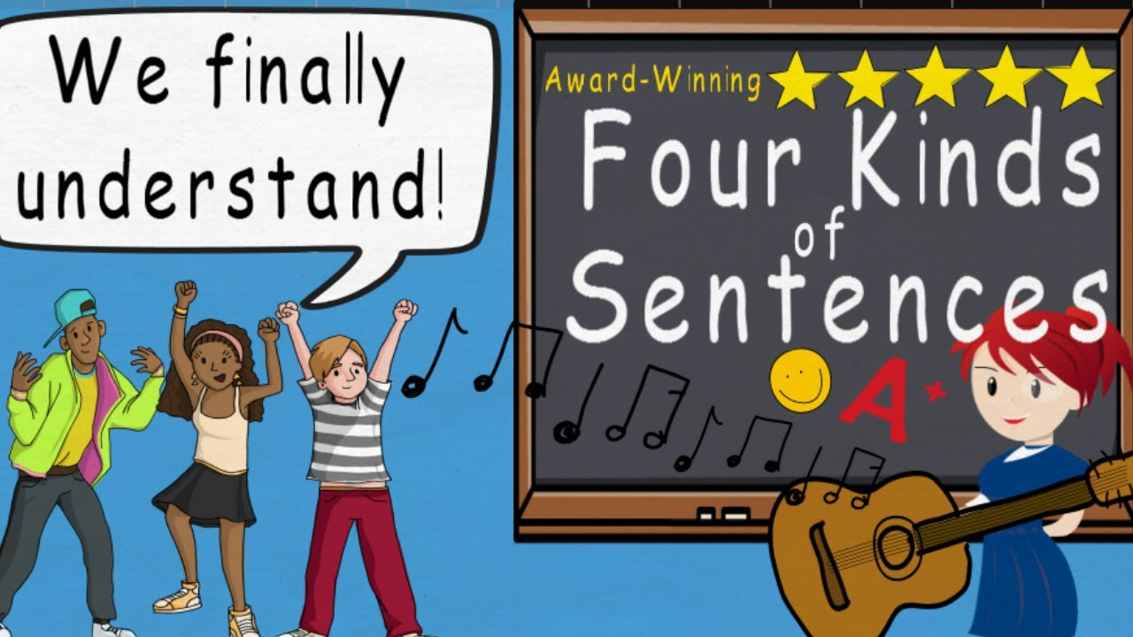 Four Kinds of Sentences Song   Award Winning Four Types of Sentences by  Melissa - YouTube [ 720 x 1280 Pixel ]