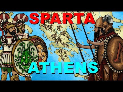 Athens vs Sparta (Peloponnesian War explained in 6 minutes)