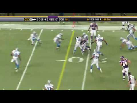 Adrian Peterson highlights VS. Lions