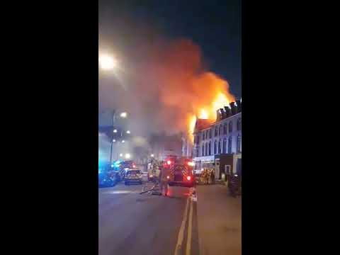 Fire rages at Aberystwyth seafront hotel