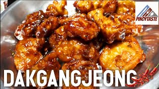CRUNCHY KOREAN FRIED CHICKEN! | DAKGANGJEONG | PINOY TASTE