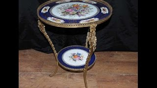 French Sevres Porcelain Side Table