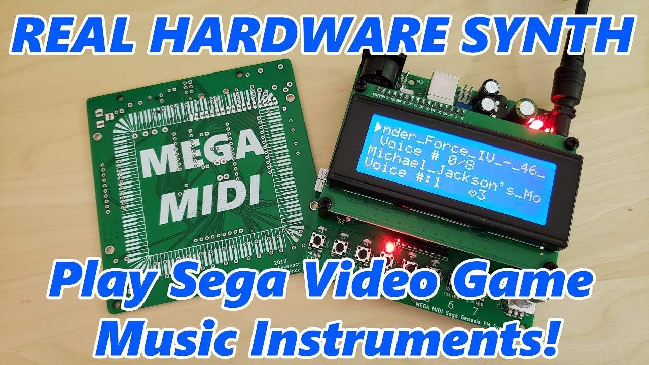MIDI Synthesizer From A Sega Genesis | Hackaday
