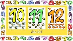 Deutsch lernen: Zahlen 1 - 12 (Spiel - game - jeu de Kim)