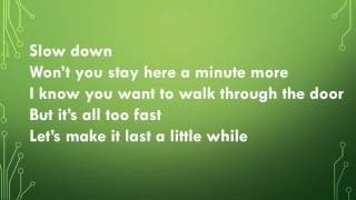 Slow Down (Lyric Video) - by: Nichole Nordeman
