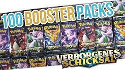100 VERBORGENES SCHICKSAL BOOSTER OPENING! DIE NEUEN SHINY POKEMON KARTEN! Pokemon Unboxing Deutsch