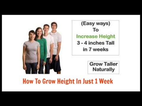 How To Grow Height In Just 1 Week/How To Grow Taller - Be Taller 4