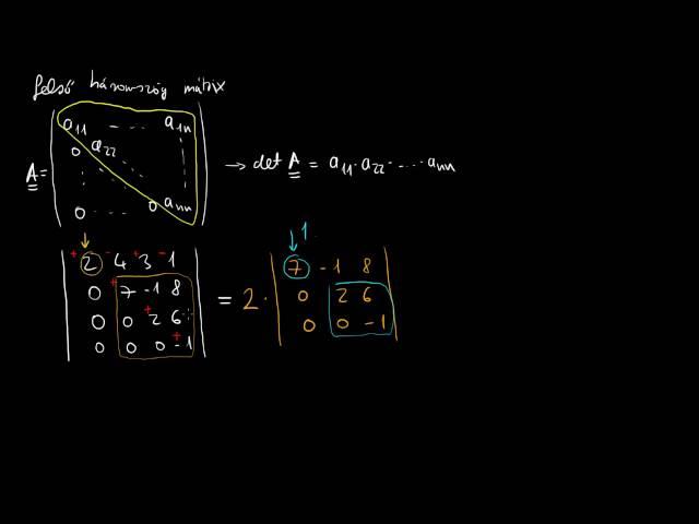 Determinások szorzástétele, egyéb könnyítések, inverz mátrix
