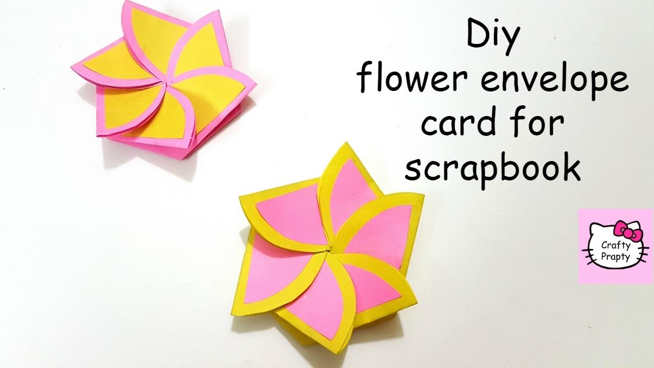 DIY Flower envelope card tutorial/Tutorial for scrapbook/Tutorial for  explosion box