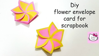 DIY Flower envelope card tutorial/Tutorial for scrapbook/Tutorial for explosion box