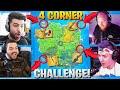 THE 4 CORNER ALL MYTHIC CHALLENGE! ft. Ninja, Tim, Courage (Fortnite Battle Royale Season 2)