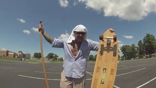 Hamboards Bamboo Pinger: The HUGE Longboard Featured On Shark Tank, Great For Land Paddling.