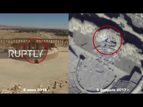 Syria: Drone footage captures ancient sites reduced to rubble in Palmyra