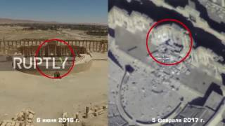 Syria  Drone footage captures ancient sites reduced to rubble in Palmyra