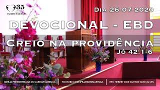Jó 42.1-6   - Creio na providência