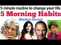 5 MORNING HABITS OF SUCCESSFUL PEOPLE | Tamil | Madan Gowri | MG