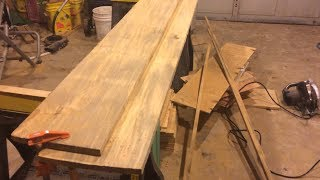 Woodworking Tip - Squaring Rough Cut Lumber