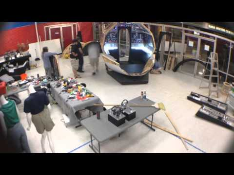 Full Scale Falcon Project - Space and Rocket Center assembly timelapse