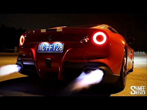 Ferrari F12 Berlinetta w/ ARMYTRIX Titanium Mufflers - Loud Revs and Flames