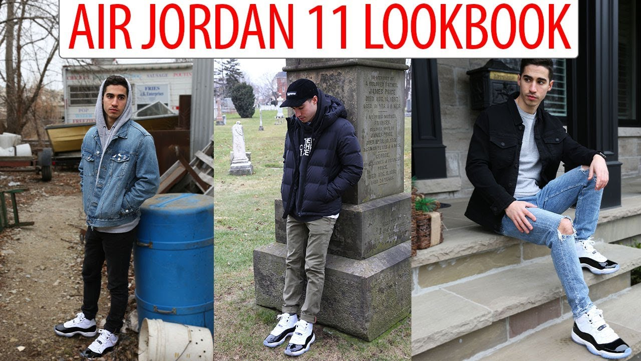 54089834bce166 HOW TO STYLE  Air Jordan 11  Concord  - Outfit Ideas Look book - YouTube
