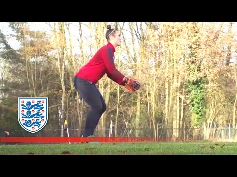 England Goalkeeper Scores From A Save | Inside Training