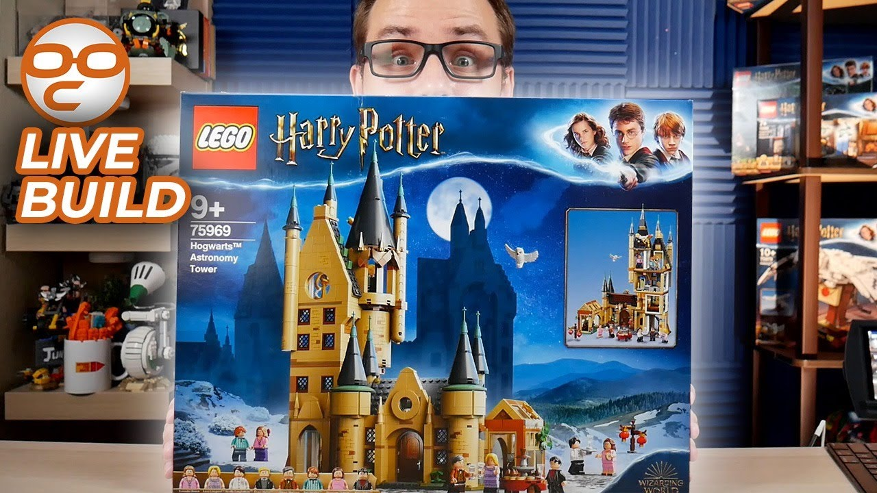 🔴  LEGO Hogwarts Astronomy Tower 75969 (2020) Live Build! | Late Night with Mike