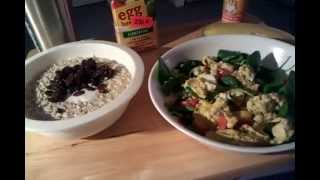 Super Six Pack Meals / Egg Whites Florentine & Oatmeal