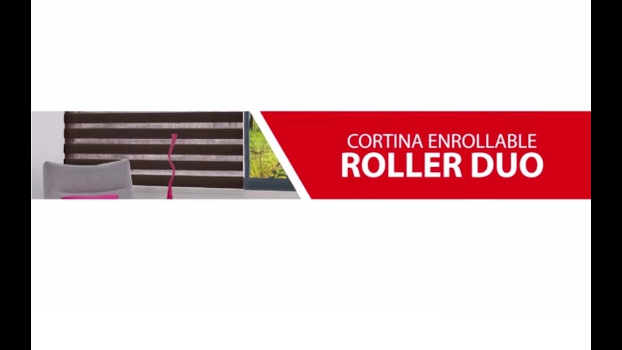 Como instalar una cortina roller duo marca reggia youtube - Como coser cortinas paso a paso ...