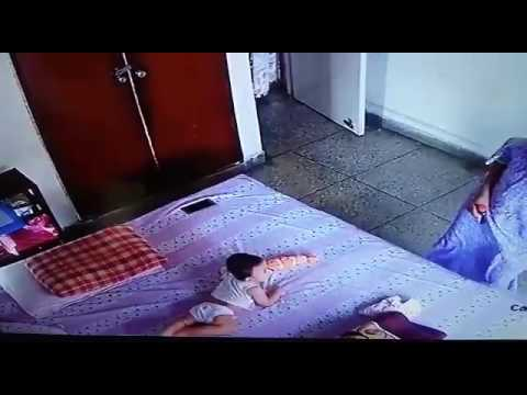 Cute Baby falling off the bed for mobile I Baby falling ...