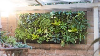 One of our favorite ways to utilize a blank outdoor wall and bring little more life space is by installing vertical garden. see the blog post h...