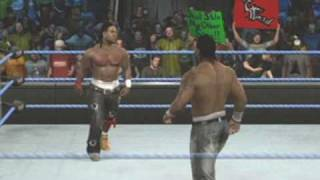 Shad Vs JTG Simulation (SmackDown Vs RAW 2010) (X Box 360)