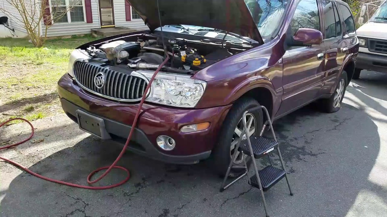 small resolution of 2006 07 08 09 buick rainier starter replacement