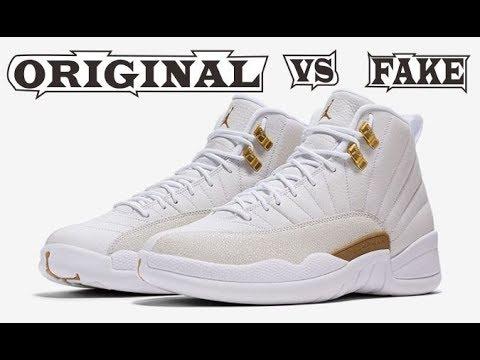 sports shoes 3b847 e58b7 Nike Air Jordan 12 Retro OVO White Original   Fake
