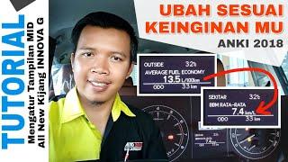 Ubah Tampilan MID INNOVA G dari L/100km menjadi km/L dengan Bahasa Indonesia