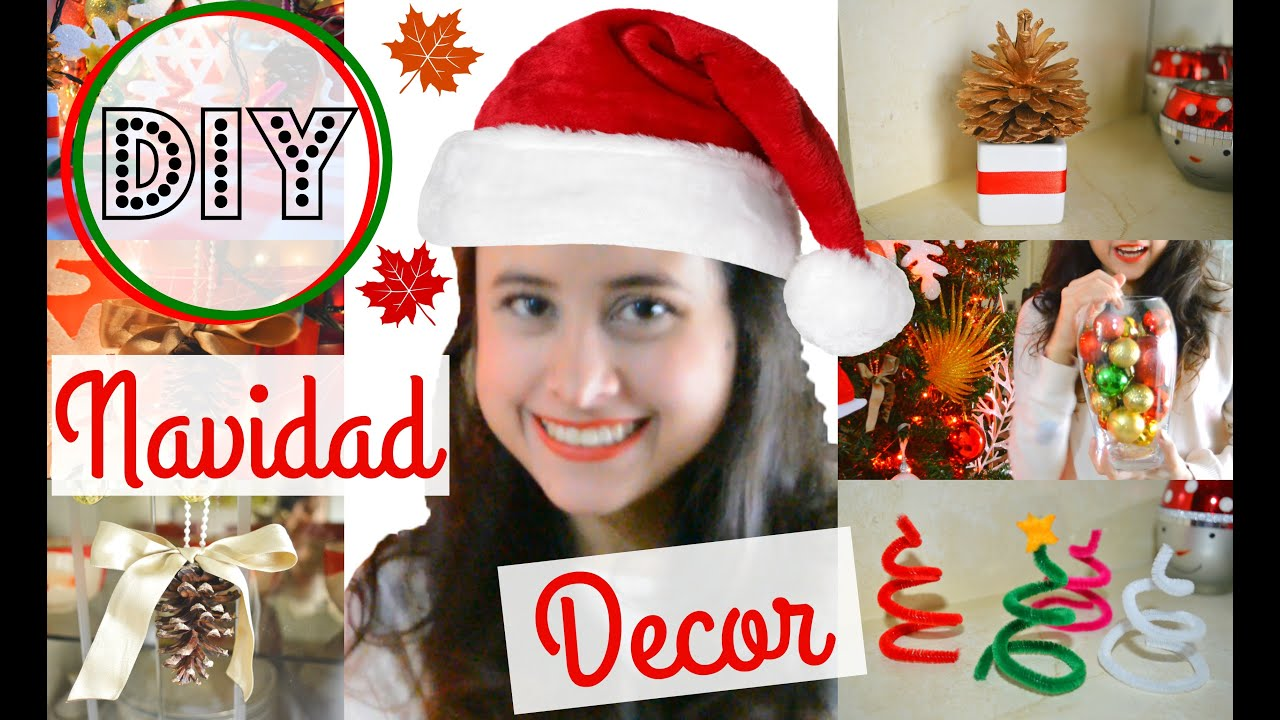Diy decoraci n de navidad f cil decoraciones navide as - Baul decoracion ...
