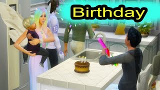 Toddler Happy Birthday Party ! Fairy SIMS 4 Game Let's Play  Video Part 26