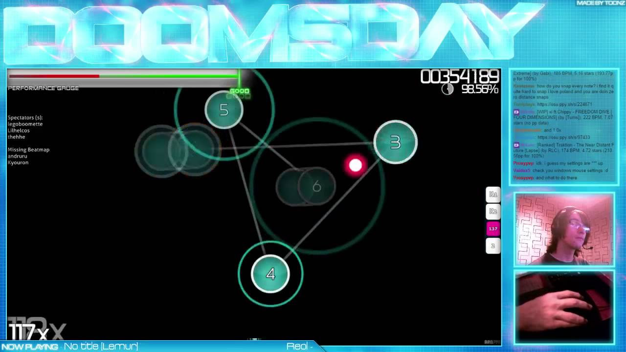 More Mouse-only osu! - Reol - No title [Lemur] - Played by Doomsday