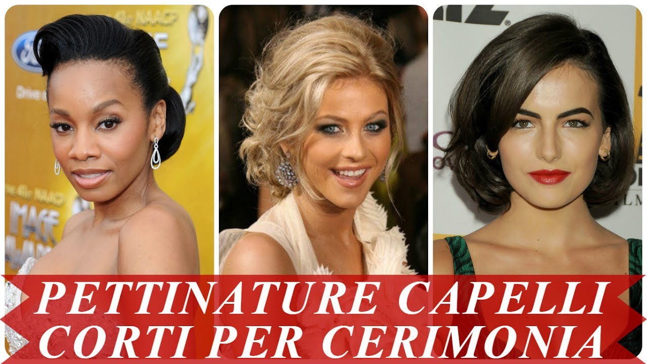 Top Nuove pettinature capelli corti per cerimonia - YouTube XD76