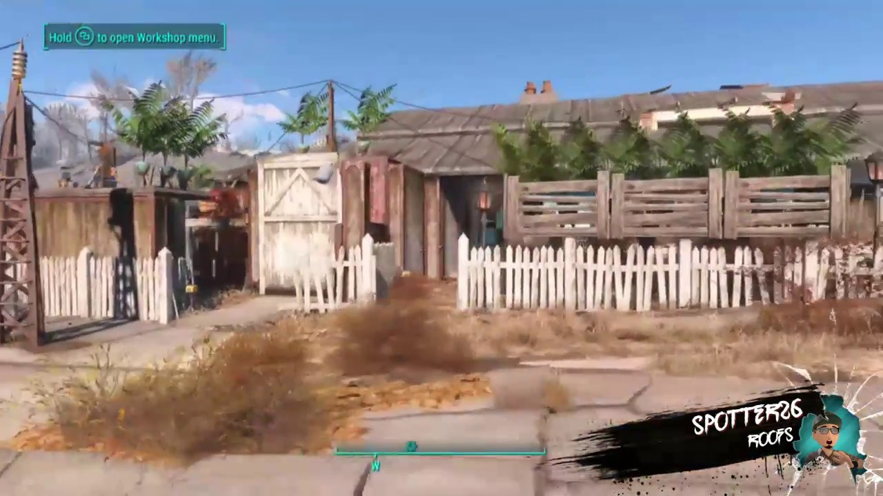 Fallout 4 Roofs For The Sanctuary Houses Xbox No Mods
